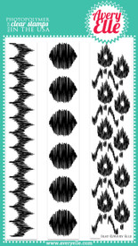 This modern and fresh 4&quot; x 6&quot; Ikat clear photopolymer stamp set is like no other.  Use the strips to easily create amazing backgrounds.
