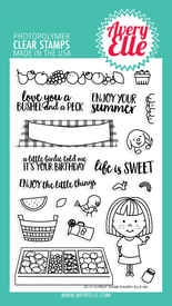 Avery Elle Fruit Stand Clear Stamps