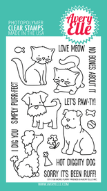 Avery Elle More Furry Friends Clear Stamps