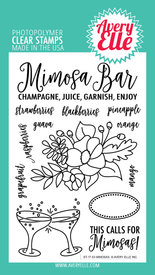 Avery Elle Mimosas Clear Stamps