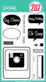 We love the versatility of our Picture It clear photopolymer stamp set and think that it would be great not only for cards, but for Project Life albums (the frame will fit perfectly in those smaller 3 x 4 pockets) and scrapbook pages as well.