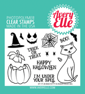 Avery Elle Bad Kitty Clear Stamps