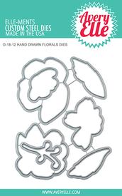 Avery Elle Hand Drawn Florals Dies