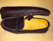 'Ole Maine Comfort Classic-Double Sole-Deerskin Lined-Dark Brown