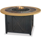 Blue Rhino Uniflame LP Propane Gas Fire Pit Table With Round Slate & Faux Wood Mante - GAD1362SP