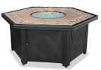 Blue Rhino Uniflame Propane Fire Pit Table - Decorative Tile Mantel - GAD1380SP
