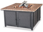 Blue Rhino Uniflame LP Propane Gas Fire Pit Table With Granite Mantel and Removable Side Panels - GAD1200B