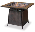 Blue Rhino Uniflame LP Propane Gas Fire Pit Table With Tile Mantel - GAD1001B
