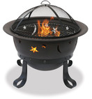 Blue Rhino UniFlame 30 Inch Diameter Bronze Fire Pit with Stars and Moons - WAD1081SP