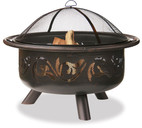 Blue Rhino UnFlame Oil Rubbed Outdoor Fire Pit with Swirl Design - WAD900SP