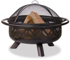 Blue Rhino UniFlame Oil Rubbed Outdoor Firebowl With Geometric Design - WAD1009SP