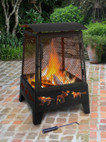 Landmann Haywood Wildlife Sturdy Steel Fire Pit - 25319