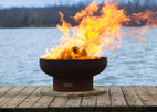 Fire Pit Art 36&quot; Low Boy - Low Minimalist Retro Fire Pit - LB