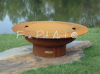 Fire Pit Art - Cover Only For The 40&quot; Saturn - Rings In The Sky - SAT-COVER