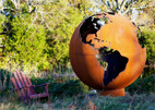 Fire Pit Art - Mother Earth - 8 Foot Globe of The Earth - ME