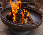"""Ohio Flame Patriot 36"""" Diameter Fire Pit Natural Steel - OF36FPNSF"""