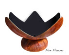 """Ohio Flame Fire Flower Artisan Bowl 37"""" Diameter Fire Pit Patina Finish  - OF37ABFF"""