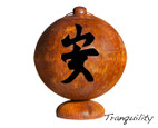 Ohio Flame 41 inch Peace, Happiness, Tranquility Fire Globe Japanese Fire Pit - Patina Finish  - OF41FGPHT