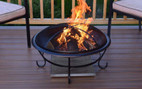 Deck Protect 12 inch by 12 inch Fire Pit Pad and Rack  - DP1002