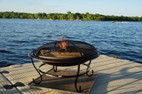 Deck Protect 16 inch by 16 inch Fire Pit Pad and Rack  - DP2002