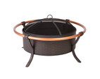 Fire Sense Well Traveled Living Copper Rail Fire Pit - 60859
