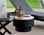 Fire Sense Well Traveled Living HotSpot Solid Base Revolver Fire Pit w/ Wooden Top - 60532