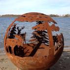 Fireball Fire Pits - Wild - 37.5 inch Fire Globe - 3715WI