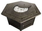 TFPS Hexagon Faux Stone Tile Fire Pit Table - TFPS-WLF-HEX