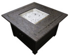 TFPS 40 Inch Square with Faux Stone Table Top Fire Pit Table - TFPS-WLF-SLT