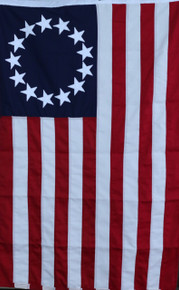 Hand sewn Betsy Ross flag