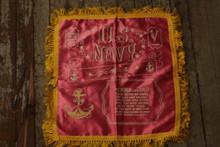 Navy commemorative banner silk