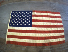 "4'3/4''x 7'1/4"" USA 48 Star vintage flag"