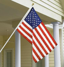 The Standard Flag Set - USA Nylon 3'x5', Spinning Pole, Bracket