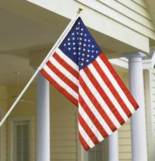 The Standard Flag Set - USA Nylon 3'x5', Spinning Pole, Bracket