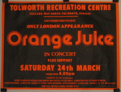 13) Orange Juice In Concert Only London Appearance C1985