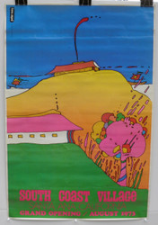 03) PETER MAX SOUTH COAST VILLAGE CALIFORNIA 1973