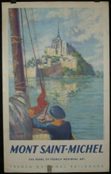 17 -  MONT SAINT MICHEL PEARL OF FRENCH MEDIEVAL ART 1947