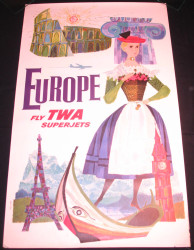 55 - EUROPE FLY TWA SUPERJETS 1960