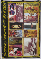 08)  SONIC YOUTH UK TOUR POSTER SISTER LP 1986