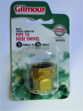 "Brass Hose Swivel - 3/4"" FHT X 3/4"" MPT or 1/2"" FPT"
