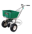 Used for fertilizer spreading in the spring and summer, and ice melt spreading in the winter.