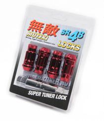 32901R - Muteki SR48 Lug Nuts : Red : 12x1.25 : 4pk Lock Set