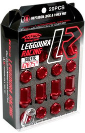 WKIC3R  -Kics Project Leggdura Racing Lug Nuts  Color: Red; Size: 12X1.25