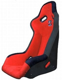BC08-P1BKSCR-R  -Buddy Club Seats - P1 Edition  Color: Red