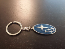 Subaru JDM Blue/Chrome Keychain