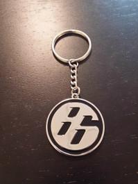 Toyota 86 'Medallion' JDM Black/Chrome Keychain