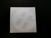FT86 Round Medallion Sticker, Large, White (Pair)