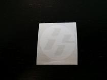FT86 Round Medallion Sticker, Medium, White (Pair)