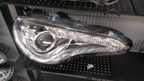 Winjet JDM-Style Series 10 FRS Headlights with LED Day-Time Running Light (Chrome)