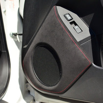 JPM Coachworks OEM Speaker Trim Black Alcantara Red Stitching